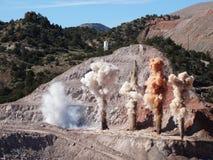 Bergbauexplosion Stockbilder