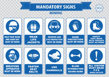 Bergbaugebotszeichen Lizenzfreies Stockbild