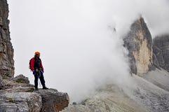 Bergbeklimmer Stock Afbeeldingen