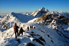 bergbeklimmers Stock Afbeeldingen