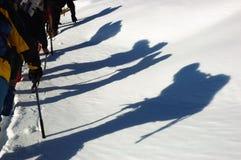 bergbeklimmers Royalty-vrije Stock Afbeeldingen