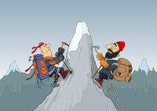 Bergbeklimmers Stock Afbeelding