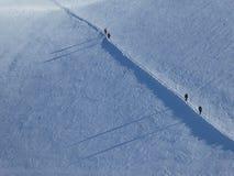 Bergbeklimmers op Monte Rosa, Italië royalty-vrije stock fotografie