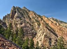 Bergbeklimmingsklip in Eldorado het Park van de Canionstaat, Colorado stock afbeeldingen