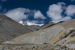 Bergbildande i Ladakh, Indien, Asien Arkivbilder