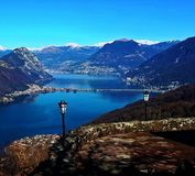 Bergblick in Italien lizenzfreies stockfoto
