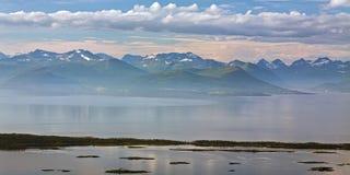 Bergblick in Molde, Norwegen Lizenzfreie Stockfotografie