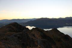 Bergblick in Nee Seeland stockbild