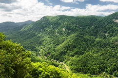 Bergblick vom Kaminfelsen stockbild