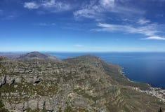 Bergblick vom Tafelberg Stockfotografie