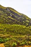 Bergblick von der Spitze des Vulkans Ijen lizenzfreie stockbilder