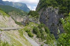 Bergblick von Tsey-Schlucht Republik von Nord-Ossetien - Alania, Russland Stockbilder