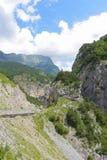 Bergblick von Tsey-Schlucht Republik von Nord-Ossetien - Alania, Russland Lizenzfreie Stockfotos