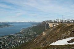 Bergblickaufzug in Tromso Stockbild