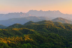 Bergblicke, Landschaft, Standpunkt Stockfotos