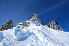 Bergbovenkant in Franse Alpen Royalty-vrije Stock Afbeeldingen