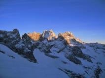 Bergbovenkant in Franse Alpen Royalty-vrije Stock Afbeelding