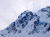 Bergbovenkant met Gletsjer Royalty-vrije Stock Foto