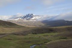 Bergbovenkant in Snaefellsnes-schiereiland in West-IJsland Royalty-vrije Stock Afbeeldingen