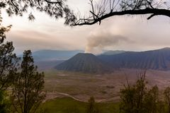 BergBromo vulkan - ö Java Indonesia Royaltyfria Bilder