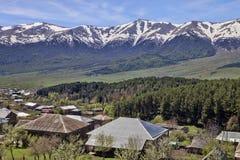 Bergby, Armenien Arkivbild