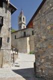 Bergby av Ferrere Argentera, Valle Stura, Cuneo arkivbilder
