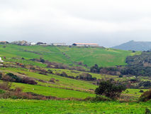 Bergby i Spanien Arkivfoto