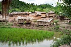 Bergby Laos Royaltyfria Foton