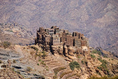 bergby yemen royaltyfri fotografi