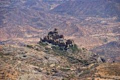 bergby yemen Arkivbilder