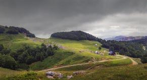 Bergdal i nationalparken Biogradska Gora, Montenegro Arkivfoto