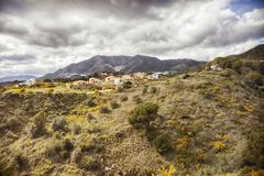 Bergdel av den Malaga regionen Arkivbilder