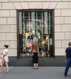 Bergdorf古德曼橱窗,纽约, NY,美国 免版税库存图片