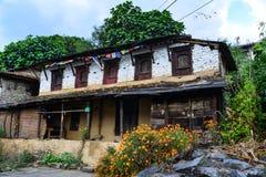 Bergdorf in Grandruk, Nepal stockfotos