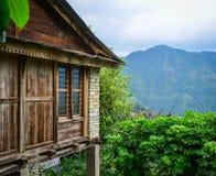 Bergdorf in Grandruk, Nepal lizenzfreies stockbild