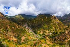 Bergdorf in Madeira Portugal lizenzfreie stockbilder