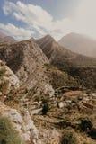Bergdorp dichtbij Oude Bar, Montenegro stock foto