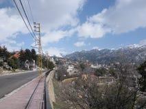 Bergdorp in Libanon Royalty-vrije Stock Fotografie