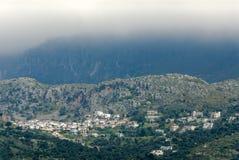Bergdorp Sella dichtbij Plakias Royalty-vrije Stock Afbeeldingen