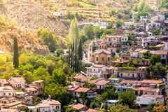 Bergdorp van Palaichori Het district van Nicosia, Cyprus Stock Fotografie