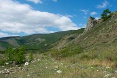 Berge auf dem Baikalsee Stockfoto