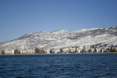 Berge auf dem Winter Stockbilder