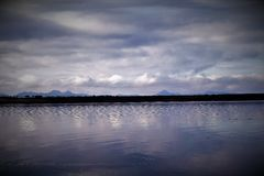 Berge auf Horizont lizenzfreies stockbild