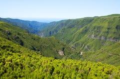 Berge auf Madeira-Insel Stockbild