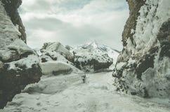 Berge auf Sachalin-Insel Stockbild