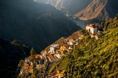 Berge auf Westteil von Insel Gran Canaria Stockbild