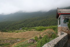 Berge in China Stockbild