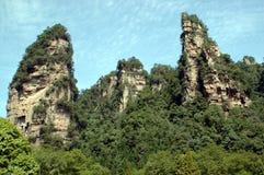 Berge China-, ZhangJiaJie Stockbild
