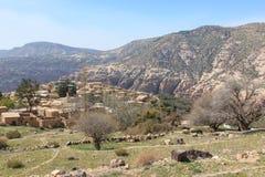 Berge Dana Nature Reserves, Jordanien Stockfotos