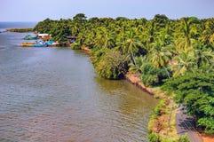 Berge de Zuari avec la forêt tropicale, Goa, Inde Photo libre de droits